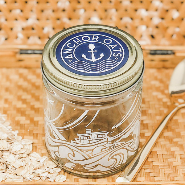 Behind Anchor Oats: Anchor Oats Jar