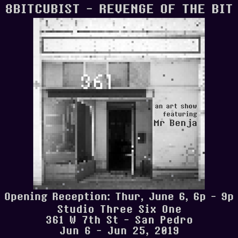 "8BitCubist - ""Revenge of the Bit"" Art Show Flyer"