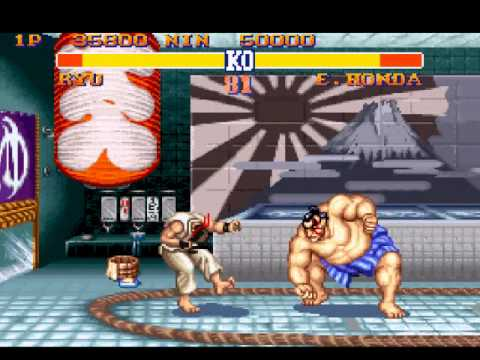 E. Honda putting that smack on Ryu