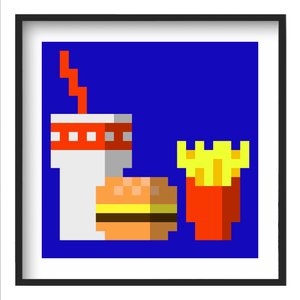 """Fast Food Meal"" - 12x12 Fine Art Print"