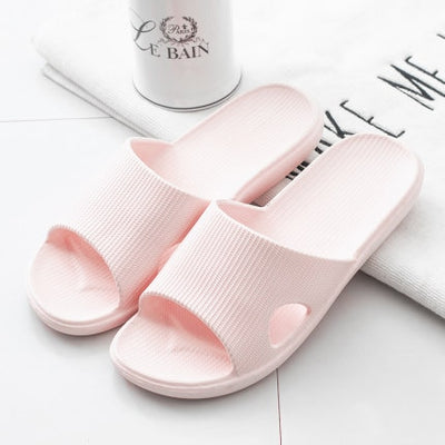 2020 New Slippers Women Summer Thick Bottom Indoor Home Couples Home Bathroom Non-slip Soft Ins Tide To Wear Cool Slippers