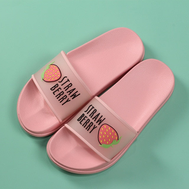 2020 Summer Slippers Shoes Women cute Fruit Jelly Color Transparent open Toe Flip Flops Clear Outdoor Beach Slides Sandals