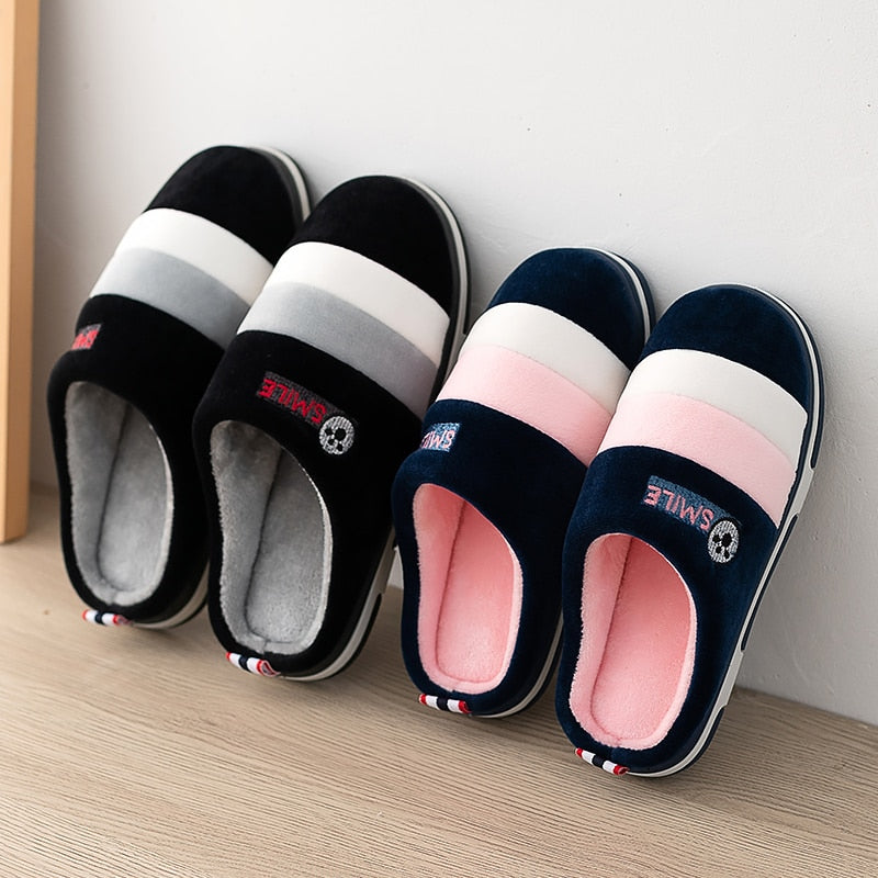 Women Indoor Slippers Warm Plush Anti Slip Lovers Home Slides 2020 Winter Shoes Woman Men House Floor Cotton Slippers SH072302