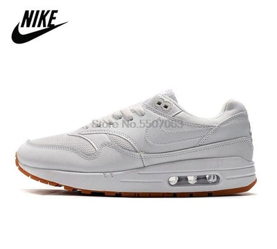 NEW Nike Air Max 1 Just Do It White Orange Men Shoes Outdoor Sports Sneakers Breathable Unisex Air Max 87 Women's Running Shoes