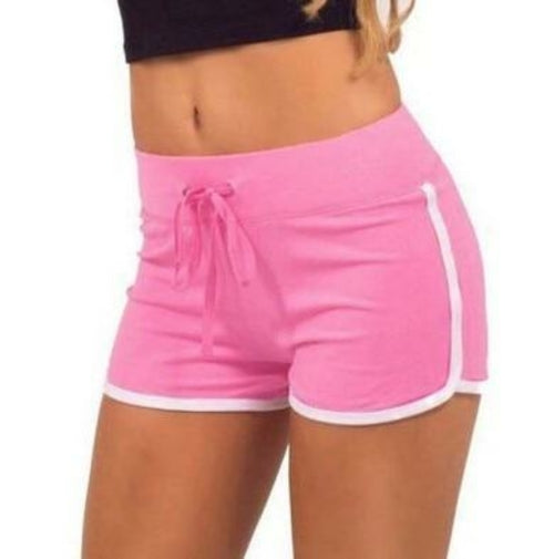 Yoga Sportswear Shorts Women Striped Workout Jogging Fitness Short