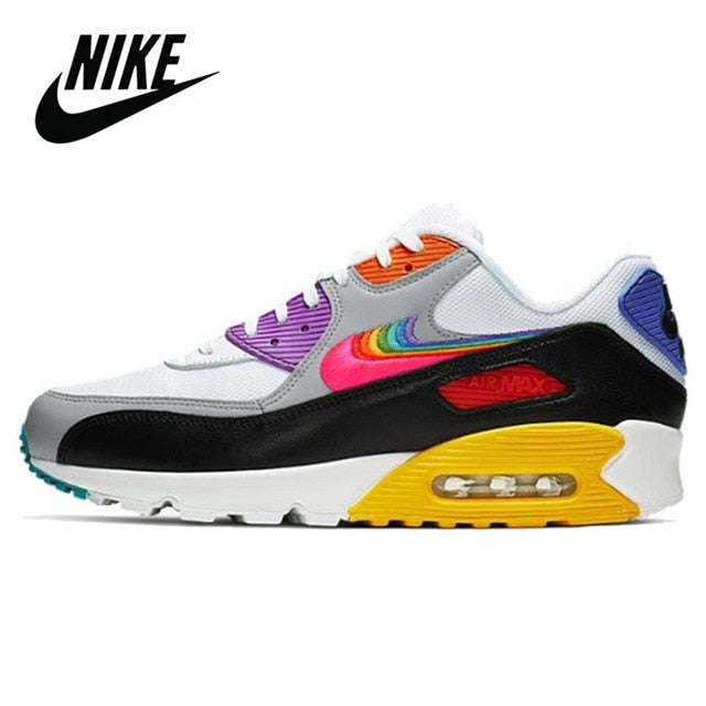 2020 NEW Nike Air Max 90 Duck Camo Orange Women Running Shoes Sneakers Sport Breathable Gym Trainers Outdoor Nike Air 90
