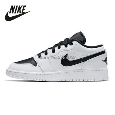 Original Nike Air Jordan 1 Mid SE Women Shoes White Black Basketball Sneakers Women Running Sport Shoes Breathable Outdoor