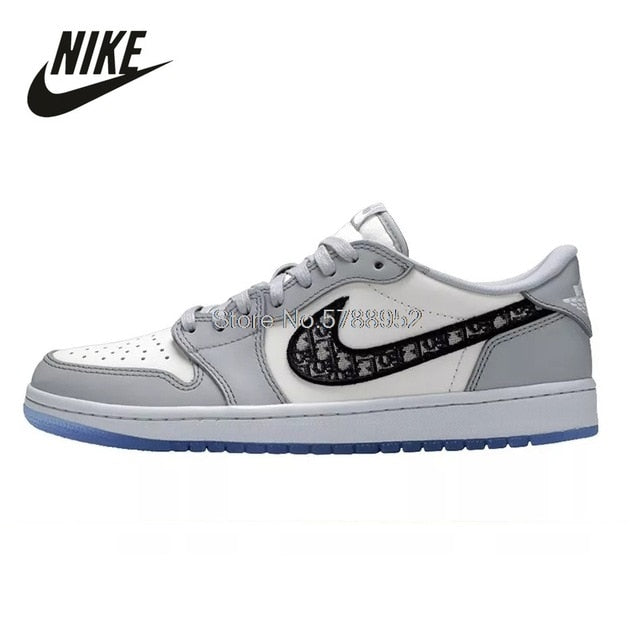 Original Nike Air Jordan 1 Retro High off-white University Blue UNC THE TEN Men Shoes Basketball Sneakers Men Running Sport