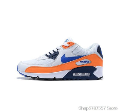 NIKE AIR MAX 90 new color two-layer leather men's running shoes sports shoes Size 40-45