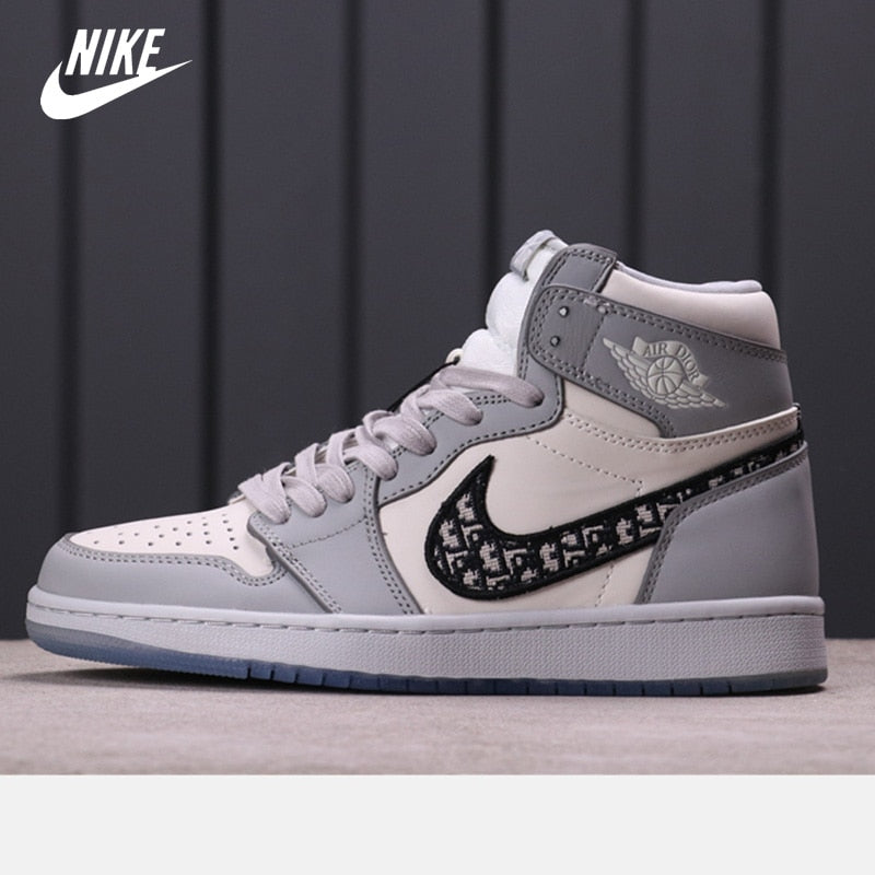 aj Dior x Nike Air Jordan 1 High OG ‌Men's Basketball Shoes Women High-top Sports Outdoor Sneakers Size eur 36-46