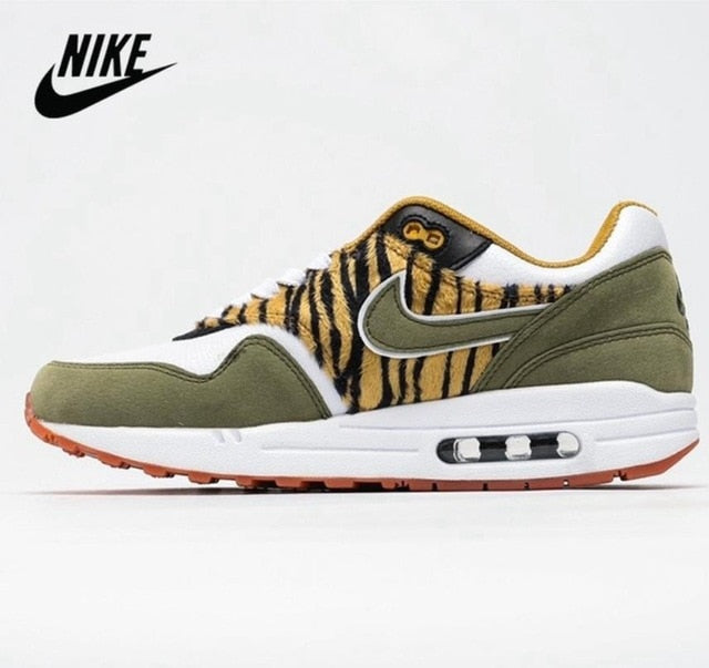 Nike Air Max 1 Leopard Retro Original Men Shoes Wild Jogging Shoes Unisex Air Max 87 Women's Running Shoes
