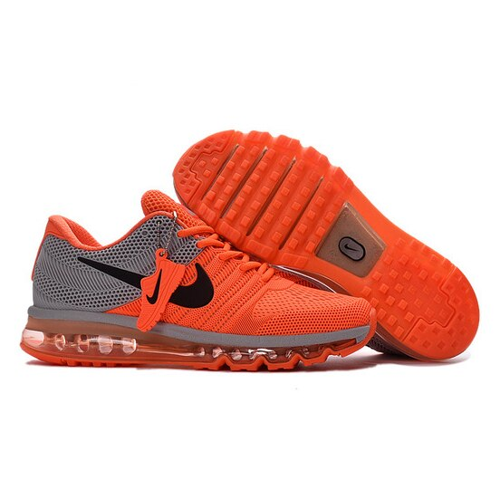 NIKE Air MAX 2017 Nike Running shoes full palm nano Disu technology Sports Men shoes hot Sneakers Orange Gray 40-45