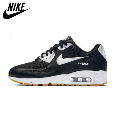 Cushioning Outdoor NIKE AIR MAX 90 Women's Running Shoes Orange Sneakers Man Thick Sole Lace Up Adult Athletic Trainer