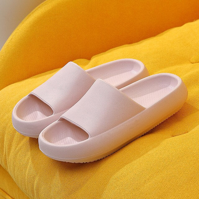 ASIFN Women Slippers Female Summer Home Household Male Indoor Non-slip Bathroom Increased Mute Deodorant Extra Thick Soft Bottom