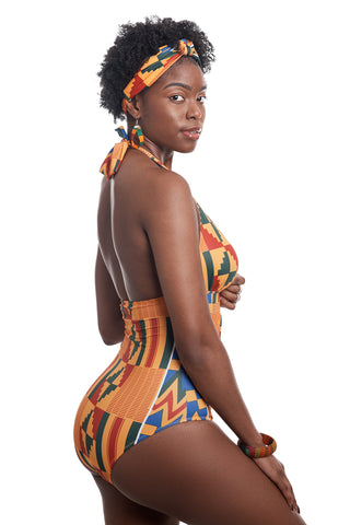 AKEE KENTE ONE PIECE  SWIMSUIT
