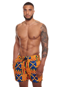 Shop short AKEE Yellow and Blue in Exoticaswimwear