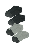 Copy of Low Cut Trainer Socks with Bamboo Charcoal for Men (4 pairs)