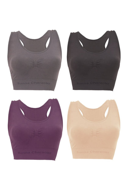 Copy of Fast Drying Sports Bra with Bamboo Charcoal - Cross-Back 3292 (4 pieces) - Sunna Character