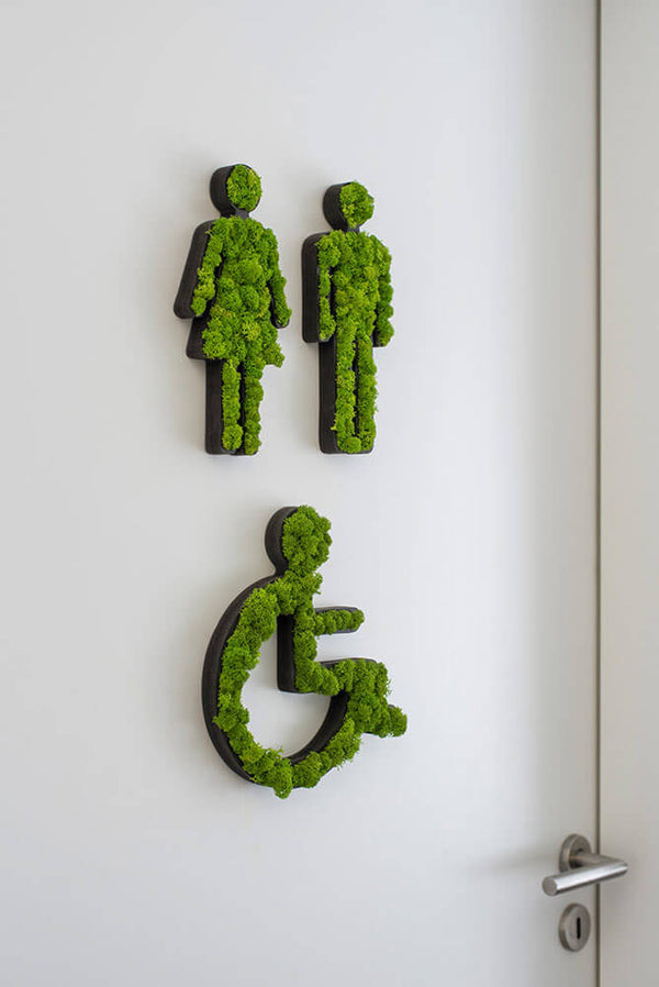 Reindeer moss pictogram toilet wheelchair
