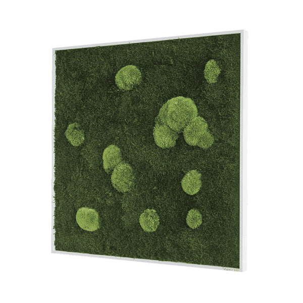 Moss picture forest and bale moss 80x80 cm