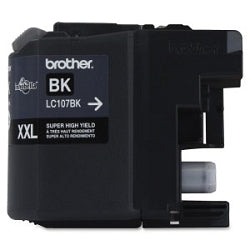 Brother LC107BK High Yield Cartridge Black Ink,