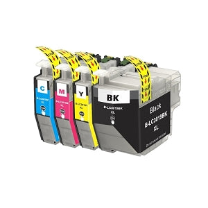 New Brother LC3019 XXL Extra High Yield BK/C/M/Y Compatible Ink Cartridge Combo
