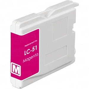 Brother LC51M Compatible Magenta Inkjet Cartridge