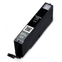 Compatible Canon 6452B001 / CLI-251XL High Yield Gray Ink Cartridge