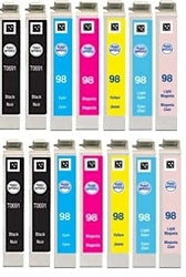 Combo set of 7 Canon BJC-6000 ,BJC-8200 Compatible ink cartridges