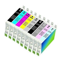 EPSON 8-Pack Compatible Combo for Epson Stylus Photo RX700 Printer