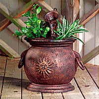 Little Giant Copper Kettle Fountain Planter