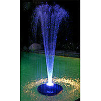 Floating Pond Fountain with Color Changing LED Lights - FTC102