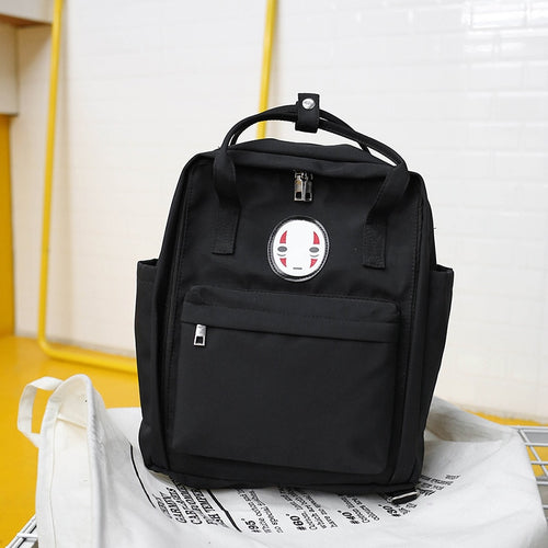 Face Print Canvas Backpack