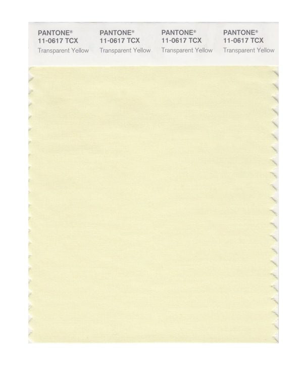 PANTONE SMART swatch 11-0617 TCX Transparent Yellow
