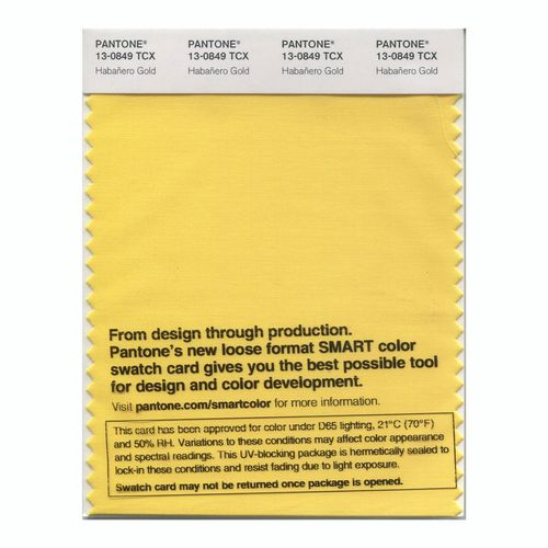 PANTONE SMART swatch 13-0849 TCX Habañero Gold