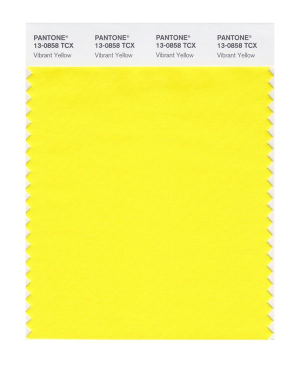 PANTONE SMART swatch 13-0858 TCX Vibrant Yellow
