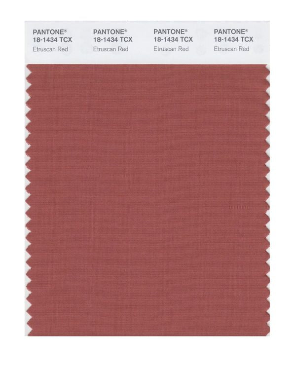 PANTONE SMART swatch 18-1434 TCX Etruscan Red