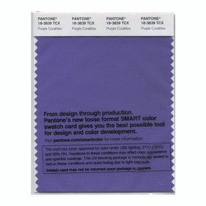 PANTONE SMART swatch 18-3839 TCX Purple Corallites