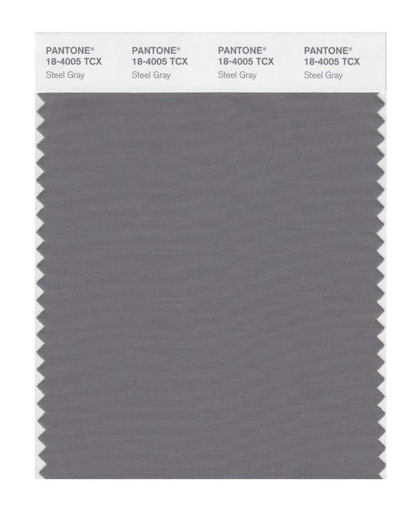 PANTONE SMART swatch 18-4005 TCX Steel Gray