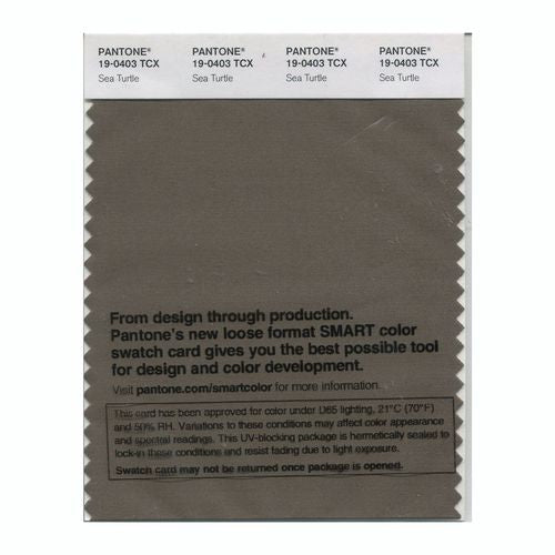 PANTONE SMART swatch 19-0403 TCX Sea Turtle