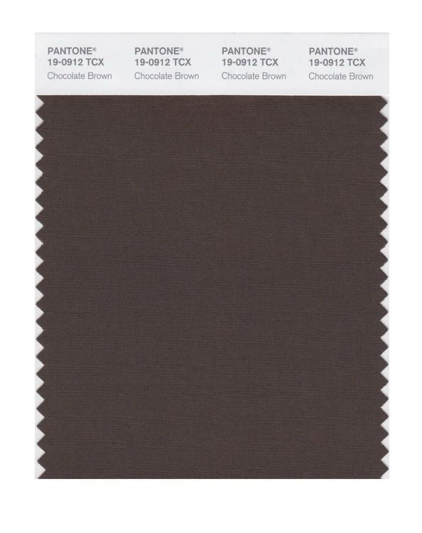 PANTONE SMART swatch 19-0912 TCX Chocolate Brown