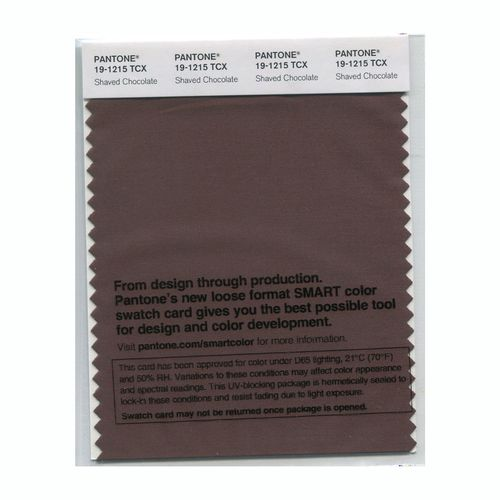 PANTONE SMART swatch 19-1215 TCX Shaved Chocolate