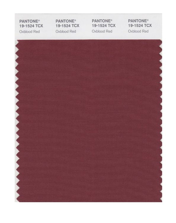 PANTONE SMART swatch 19-1524 TCX Oxblood Red