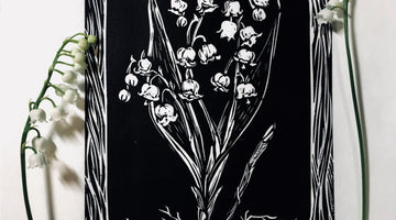 Lily of the Valley Lino Relief Print