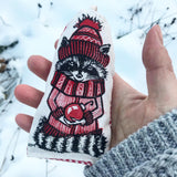 Hand Printed Racoon Ornament