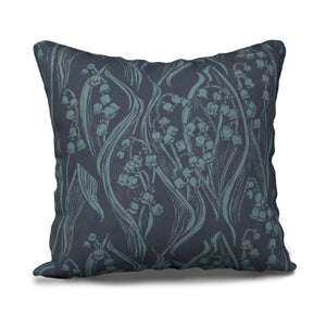"Pillowcase 18"" - Return of Happiness - Hale Navy and Blue - Kristine MacGregor - KM Design"