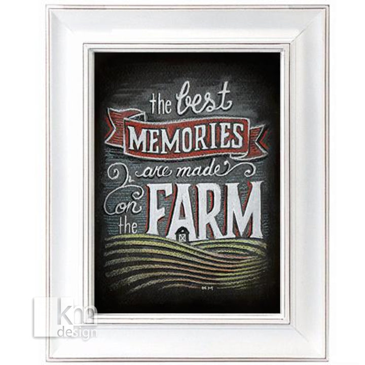Chalk Art - Farm, [product type],handmade - Kristine MacGregor - KM Design - Art - Printmaking