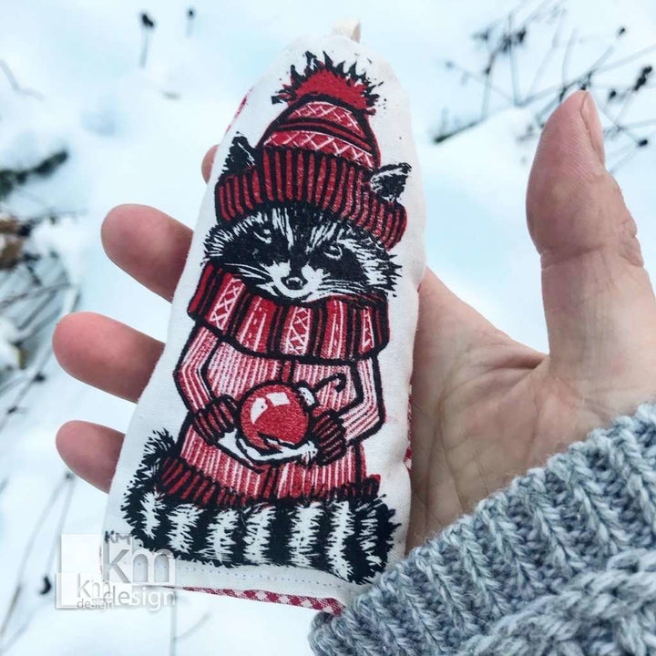 Forest friend ornament - raccoon, [product type],handmade - Kristine MacGregor - KM Design - Art - Printmaking