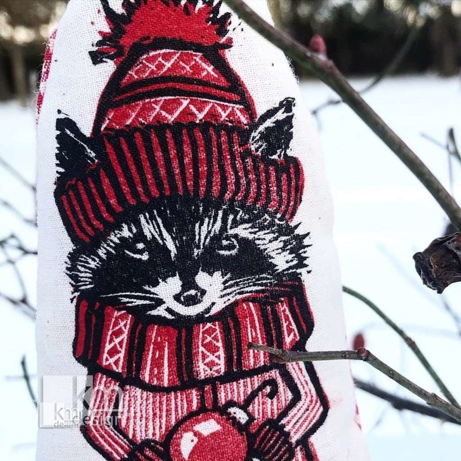 Forest friend ornament - raccoon - Kristine MacGregor - KM Design