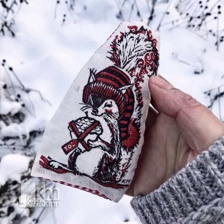 Forest friend ornament - squirrel, [product type],handmade - Kristine MacGregor - KM Design - Art - Printmaking
